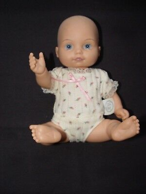 BSB Baby So Beautiful Baby Girl Infant Doll Blue Eyes, BSB Clothes
