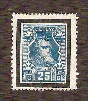 Lithuania 1927 Basanavicus 25 variety perf 11½ sides, perf 14 top & bottom MNH**