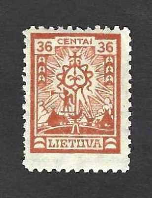 Lithuania 1923 definitive 36c issue ... Mi.214 (Sc.204) ... MH *