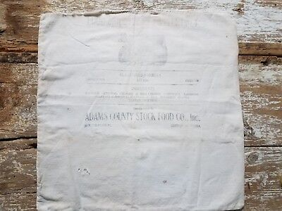 Antique Feed Sack Bag Adams County Stock Food Co. Gettysburg, PA Digester Cattle