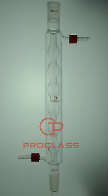 Proglass 24/40 Joint 300mm Glass Allihn Condenser with removable hose connector