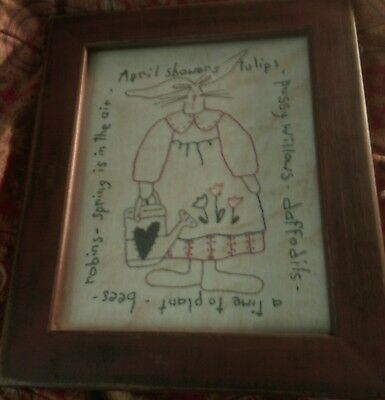 antique sampler, antique frame