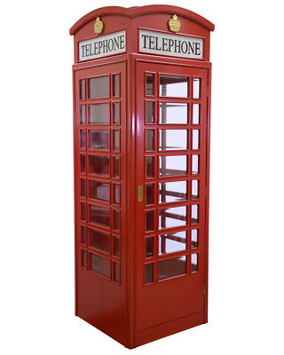 ENGLISH STYLE FULL SIZE REPLICA TELEPHONE BOOTH / TELE PHONE in BRITISH RED