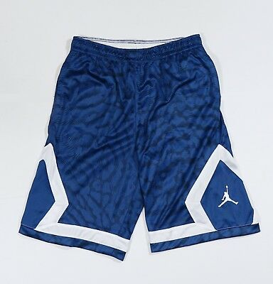8d2342f4c8e Nike Jordan Flight Diamond Boys Basketball Shorts Blue White Youth Large