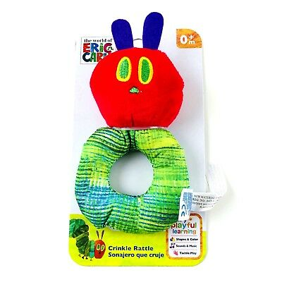 Eric Carle The Very Hungry Caterpillar Baby Loop Crinkle Rattle