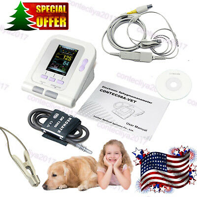 Cat/Dog/Animal Automatic Blood Pressure Monitor CONTEC08A-VET SPO2 Tongue Probe