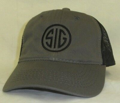 SIG SAUER HAT Adult Dark Grey-Black Sig Sauer Hat Ball Cap Nice Platinum  Series 17f2f8c5b72