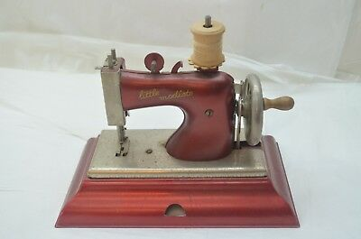 Vintage Toy Sewing Machine Little Modiste German Metal Hand Crank Casige Child