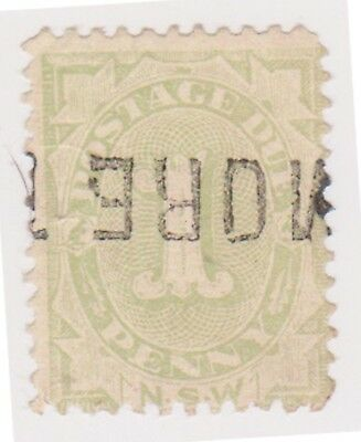 (K117-42) 1891 NSW 1d green Postage due (AQ)