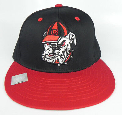 9e49168ec2c Georgia Bulldogs Uga Ncaa Snapback Retro 2-Tone Flat Bill Cap Hat New! Black