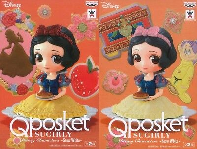 Q posket Snow White Figure set of 2 SUGIRLY Disney Characters JAPAN NEW