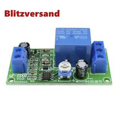 DC 12V 0-60 Second Adjustable Delay Time Turn off Switch NE555 Timer Relay Neu