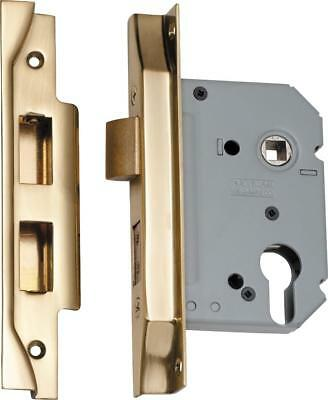 rebated high security euro lock,47.5 mm pitch,range of finishes,57,46 mm backset