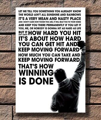 G-298 Rocky Balboa Inspirational Motivational Movie Quote Poster 24x36 27x40