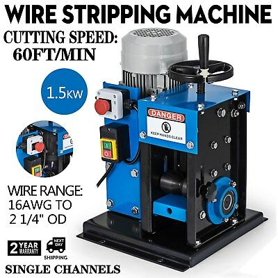 """16AWG-2-1/4"""" Electric Wire Stripping Machine Cable Stripper Portable Heavy Duty"""