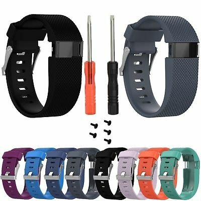 Small Replacement Silicone Band Strap Wristband Bracelet For Fitbit Charge HR #