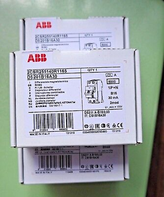 ABB residual current circuit breaker DS201 A B16/0,03 2CSR255140R1165 RCBO