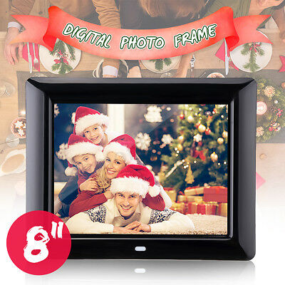 8 Inch TFT-LCD HD Digital Photo Frame Clock MP4 Movie Player With Remote Control