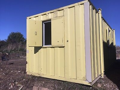 Site Office Cabin Canteen 24ft x 9ft Portable Steel Building Weladre Anti Vandal