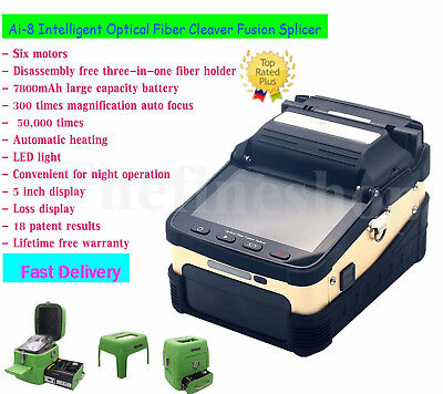 Signal Fire Ai-8 Intelligent Optical Fiber Cleaver Fusion Splicer 50000times SZ*