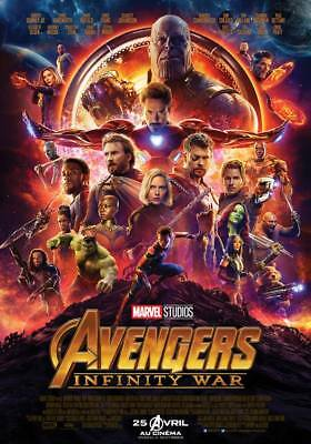 AVENGERS INFINITY WAR Affiche Cinéma Originale ROULEE 53x40 Movie Poster
