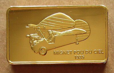 The Janes Medallic Register...mignet Pou Du Ciel...france 1935..Gold On Bronze