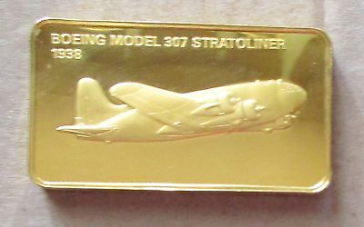 The Janes Medallic Register.....boeing Model 307 Usa 1938....Gold On Bronze