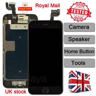 LCD Touch Screen Replacement For iPhone 6S Digitizer Home Button Camera Black UK