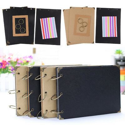 DIY 30Page Kraft Scrapbook Photo Album Wedding Display Memory Book w/Sticker