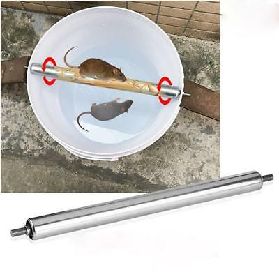 Stainless Steel Mice Mouse Rats Log Roll Trap Grasp Bucket Rolling Stic M1E8