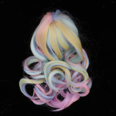 "Gradient Curly Hair 28-30cm 11-12inch for 18"" American Girl Doll Cosplay Wig"