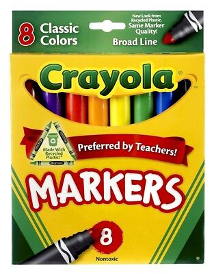 Crayola Broad Line Washable Markers - Classic Colours - 8 pack