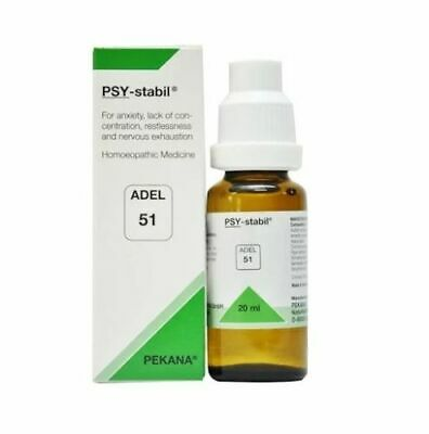 ADEL 51 Homoeopathic PSY-Stabil Drop For Anxiety, Lack of Concentration 20ml