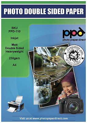 PPD A4 Photo Paper Double Sided Matt Super Heavy Weight 230g x 50 Sheets