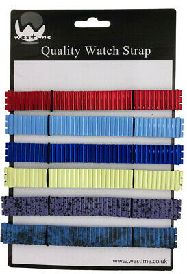 6 x Wholesale Job Lot Gents Silver Expanderble Watch Straps 17mm to 22mm