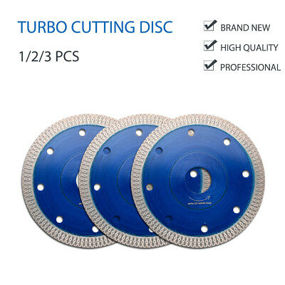 115mm Porcelain Tile Turbo Thin Diamond Dry Cutting blades/Discs Grinder Wheel