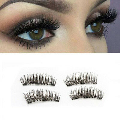 707d088713e 4pcs 3D Magnetic False Eyelashes Handmade Natural Extension Eye Lashes Thick