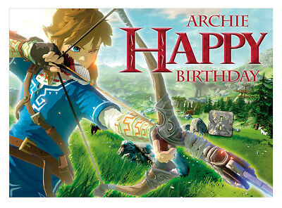 The Legend Of Zelda Personalised Birthday Card A5