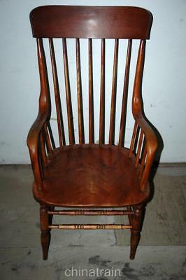 Antique Spindle Back Side Accent Wood Arm Chair