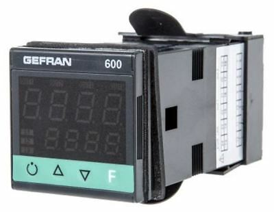 Gefran 600 PID Temperature Controller, 48 x 48 (1/16 DIN)mm, 2 Output Relay, 100