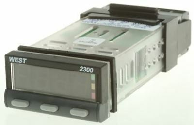 West Instruments N2300 PID Temperature Controller, 49 x 25mm, 2 Output Relay