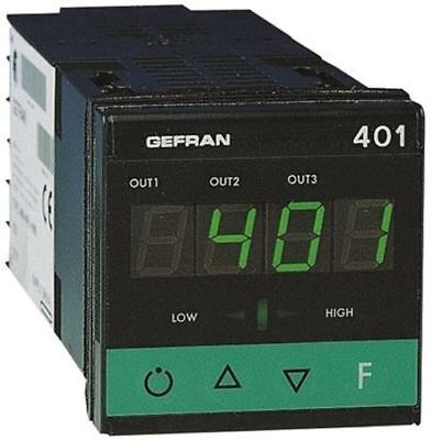 Gefran 400 PID Temperature Controller, 48 x 48 (1/16 DIN)mm, 3 Output Relay, 11