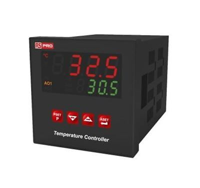 RS Pro DIN Rail PID Temperature Controller, 72 x 72mm, 3 Output SSR, 230 V ac Su