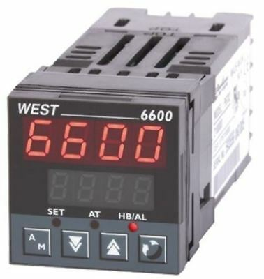 West Instruments N6600 PID Temperature Controller, 48 x 48 (1/16 DIN)mm, 2 Outpu