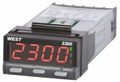 West Instruments N2300 PID Temperature Controller, 49 x 25mm, 2 Output Relay, 10
