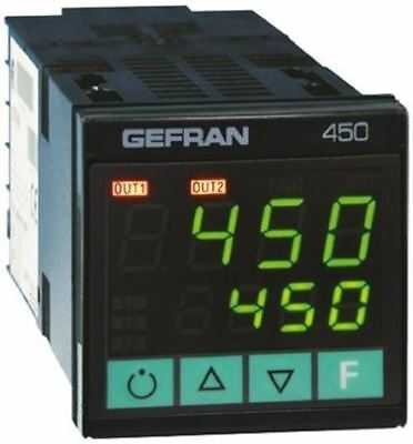 Gefran 450 PID Temperature Controller, 48 x 48 (1/16 DIN)mm, 2 Output Logic, Rel