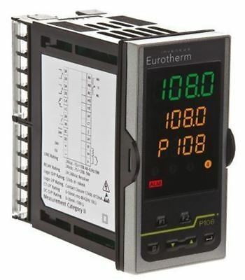 Eurotherm P108 PID Temperature Controller, 48 x 96mm, 2 Output Logic, Relay, 85
