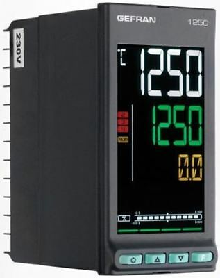 Gefran 1250 PID Temperature Controller, 48 x 96mm, 3 Output Logic, Relay, 100 â?