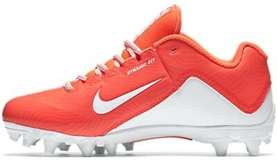 NEW Nike Womens SPEEDLAX 5 sz 7 ORANGE White Lacrosse Football Shoes Cleats