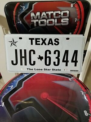 1 Texas License plate.  In good shape. all different, matching sets available